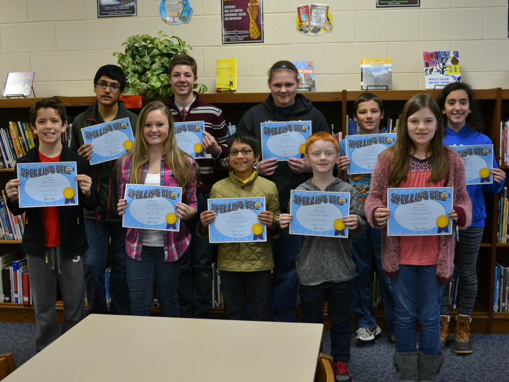 picture of all school spelling bee participants